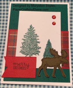 Merry Moose Bundle, greeting Cards, handmade greeting cards,  Stampin' Up handmade cards, Christmas Cards, 2019 Christmas cards, Stampin' Up Christmas Cards,