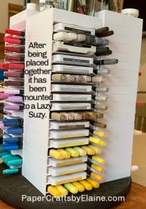 craft room storage, storing your inks and markers, store ink pads and markers together, storing craft supplies,