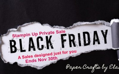 Black Friday Sale from Stampin Up