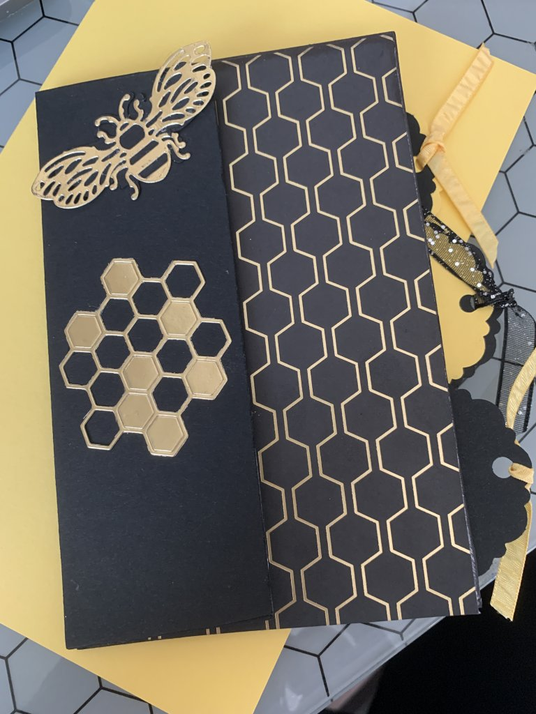 The Honey BEE Project is a virtual project, where you will be making 5 Fancy Fold cards and one mini album. As it is virtual you can make them in your home at anytime. Each card has been designed using a different fancy fold technique. Come join the fun at https://www.facebook.com/events/825593824557667/