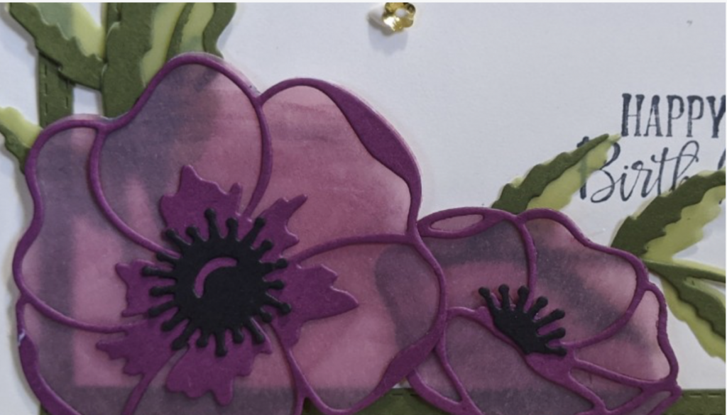 Card Classes, Painted Poppies Stampin' Up,