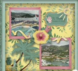 scrapbook pages, scrapbook classes, Topical Oasis Stampin' Up, Scrapbook Tropical Oasis,