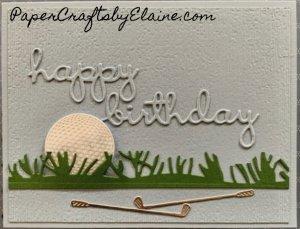Happy Birthday golfer card, golfing card, happy birthday, greeting cards, handmade greeting cards, cards for golfers,