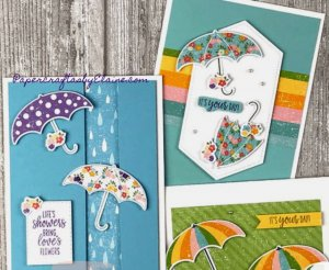 Pleased as Punch dsp, umbrella builder punch, greeting cards, handmade cards, all occasion cards, rain day cads, fun cards, quick and easy cards, punch cards,