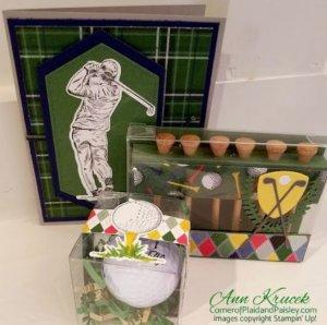 golfing set, golfing gift set, greeting cards, handmade cards, golfing set, Handmade gift set.