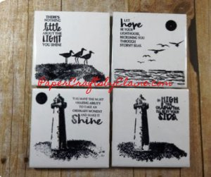 stamping on coasters, High tide stamp set, greeting cards, cards for fun, crafting with kids, anything but cards,