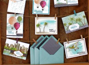 all inclusive card kit, greeting card kits, handmade card kits, handmade cards, Looking up card kit, Hot Air Balloons cards, Airplanes cards,