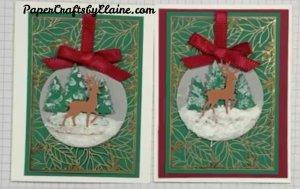 Snow Globe Dies, NO Stamp Christmas Cards, Greeting cards, Handmade Christmas Cards, Christmas Cards 2020, Gold Foil Laser Cut, Forever Gold Foil Laser Cut,