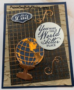 World of Good Bundle Stampin' Up, World of good Bundle, Cards for men, greeting cards, handmade greeting cards, cards using brass foil, Beautiful World stamp set, Beautiful world Stampin' Up, World of Good Memories and More,