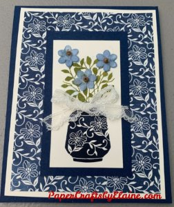 Boho Indigo Medley, greeting cards, handmade greeting cards, card kit, kits for making multiple projects, Paper Crafts by Elaine, Card series by Stampin' Up , card kit with navy blue,