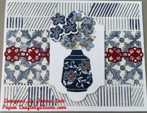 Mix patterns, How to mix patterns, greeting cards, Boho Indigo Medley, card kits, large kit for family and friends, Navy Blue colors, ancient vases, home made greeting cards, Cards for anyone, Cards for everyone,