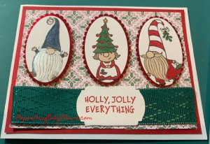 Gnome for the Holiday, stampin blends vs stampin writer markers, How to cut card layers, coloring with stampin blends, Coloring with stampin write, Greeting cards, Handmade Christmas cards, Kids projects, Cards kids can make, projects for kids,