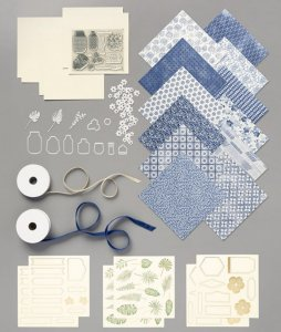 Boho Indigo Medley, card kit, card kit for the family, kits to make with the family, greeting cards, handmade cards, craft kit in a box, fun crafts kits, organized kits ready to make,