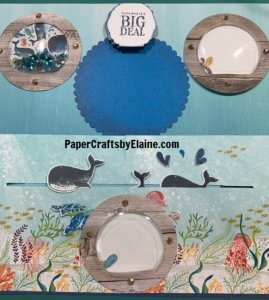 Whale done Bundle, Whale Done stamp set, scrapbook pages, scrapbook layout, Whale, PaperCraftsbyelaine.com, interactive scrapbook pages.