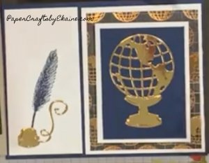 World of Good double open card, cards for men, male cards, cards for travelers, cards for world travelers, greeting cards, handmade cards, layered cards, how to make layered cards,