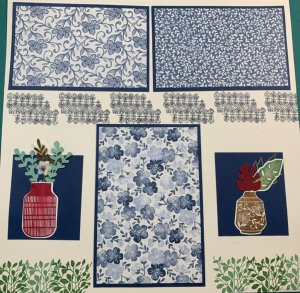 boho Indigo Medley, scrapbook pages, creating memories with scrapbook pages, easy to follow instructions for scrapbook layouts,